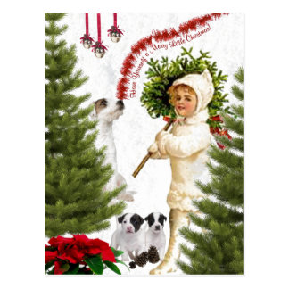 Jack Russell Have Yourself a Merry Christmas Post Card