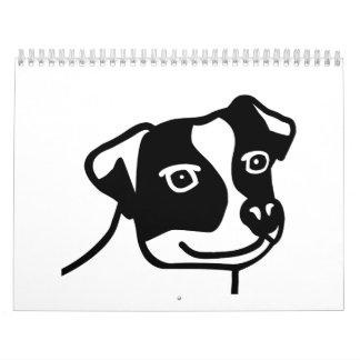Jack Russell head Wall Calendars