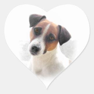 Jack Russell Heart Sticker