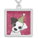 Jack Russell in a Party Hat | Dog Art Pendant