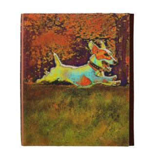 jack russell in autumn ipad ase iPad folio cases