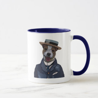 Jack Russell in Boater 2 Mug