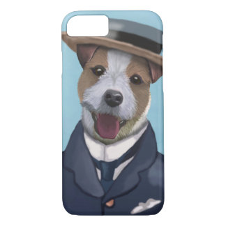 Jack Russell in Boater iPhone 7 Case