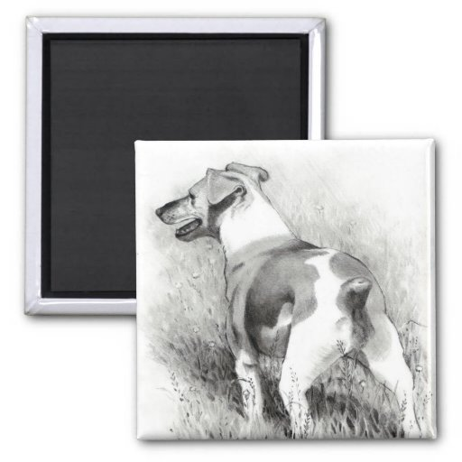 JACK RUSSELL IN PENCIL REFRIGERATOR MAGNET