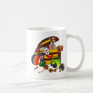 JACK RUSSELL IN THE TOY BOX MUGS