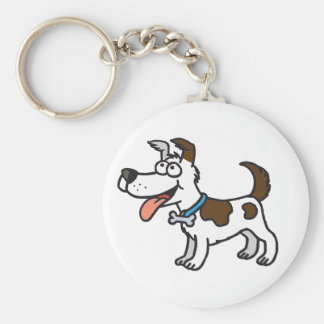 Jack Russell Key Ring Basic Round Button Keychain