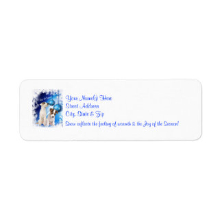 Jack Russell Let It Snow!  Return Address Labels