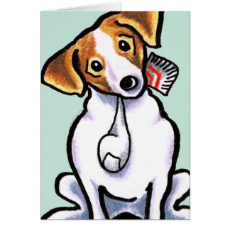 Jack Russell Lets Play Greeting Card
