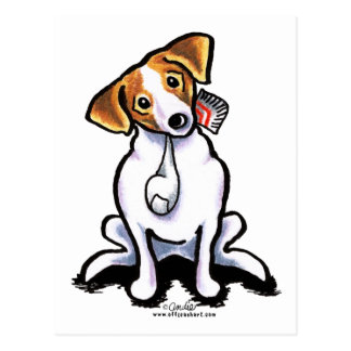 Jack Russell Lets Play Postcard