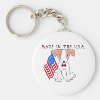 Jack Russell Made In The USA Keychain