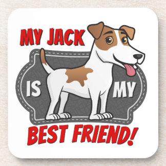 Jack Russell - mejor amigo Posavasos