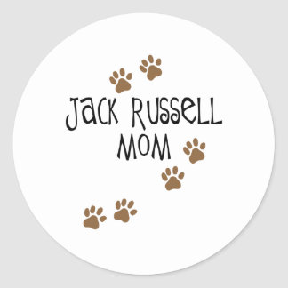 Jack Russell Mom Classic Round Sticker