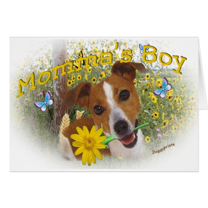 Jack Russell Momma's Boy Card