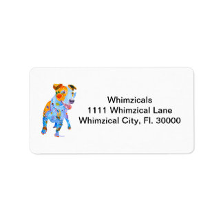Jack Russell of Many Colors Custom Address Labels