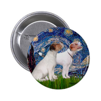 Jack Russell Pair 4 - Starry Night Pinback Buttons