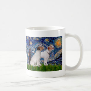 Jack Russell Pair 4 - Starry Night Coffee Mug