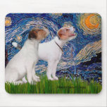 Jack Russell Pair 4 - Starry Night Mouse Pads