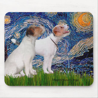 Jack Russell Pair 4 - Starry Night Mouse Pad