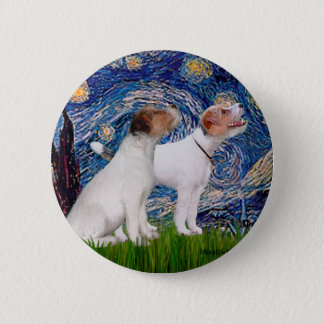 Jack Russell Pair 4 - Starry Night Pinback Button