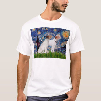 Jack Russell Pair 4 - Starry Night T-Shirt