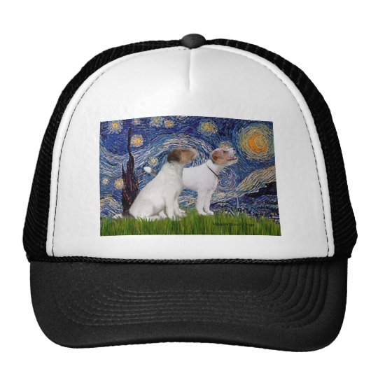 Jack Russell Pair 4 - Starry Night Trucker Hat
