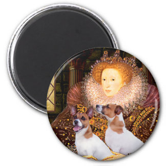Jack Russell Pair - Queen 2 Inch Round Magnet