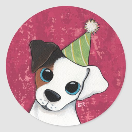 Jack Russell Party Dog Stickers  / Envelope Seals