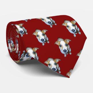 Jack Russell Pattern Tie
