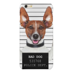 Case Savvy iPhone 6 Plus Glossy Finish Case with Jack Russell Terrier Phone Cases design