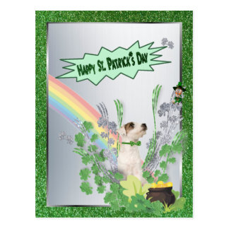 Jack Russell Pup Number 2 St Patty Small Version Post Cards