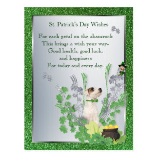 Jack Russell Pup Two Health Luck Happiness Wishes Post Cards