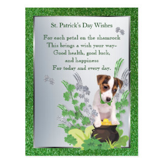Jack Russell Puppy 1 Health Luck Happiness Wishes Postcard