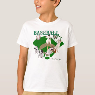 Jack Russell Puppy Baseball Practice Customize It! T-Shirt