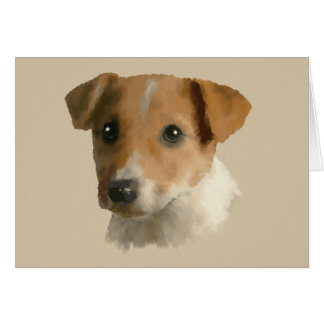 Jack Russell Puppy Card
