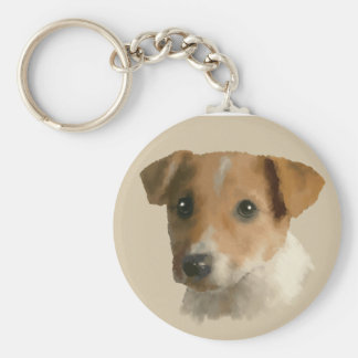 Jack Russell Puppy Keychain