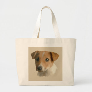Jack Russell Puppy Large Tote Bag
