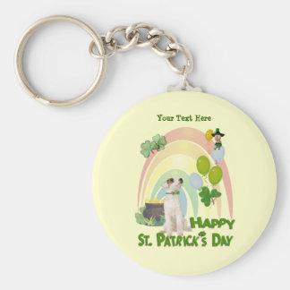 Jack Russell Puppy - Matches Irish Or Not Design Keychain
