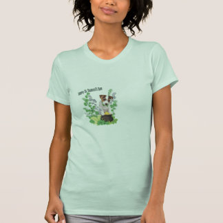 Jack Russell Puppy Number 1 St Patricks Day Wishes T-Shirt