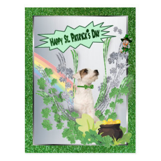 Jack Russell Puppy Number Two Happy St Pattys Day Postcards