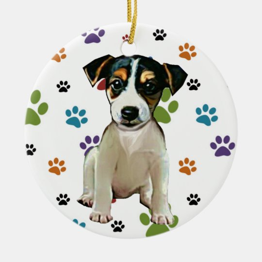 Jack Russell Puppy Ornament