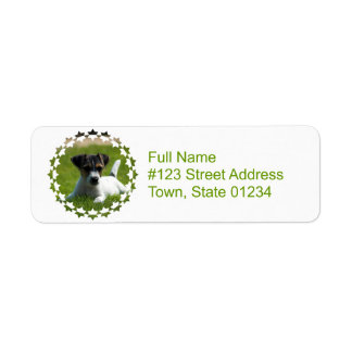 Jack Russell Puppy Return Address Label