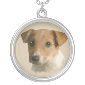 Jack Russell Puppy Silver Plated Necklace