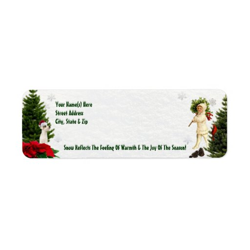 Jack Russell Red Poinsettia Return Address Labels Zazzle