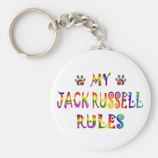 Jack Russell Rules Fun Keychain
