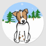 Jack Russell Snow Sticker
