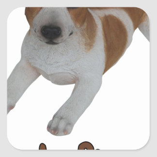 Jack Russell! Square Sticker