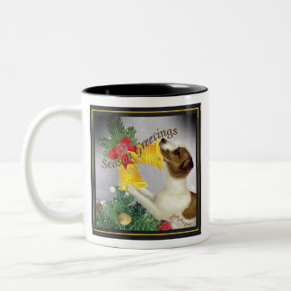 Jack Russell  Steals Christmas Tree Topper Mug