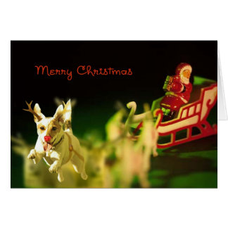 Jack Russell Subs For Rudolph Greeting Card