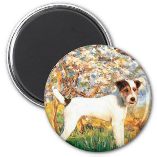 Jack Russell (T) - Spring 2 Inch Round Magnet