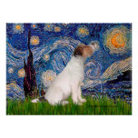 Jack Russell Terrier 5 - noche estrellada Poster